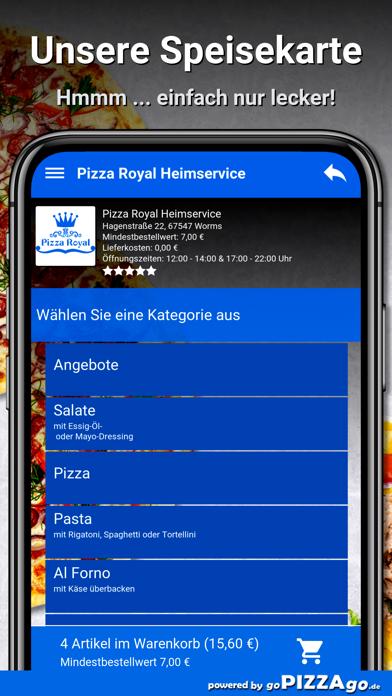 Pizza Royal Heimservice Worms screenshot 4