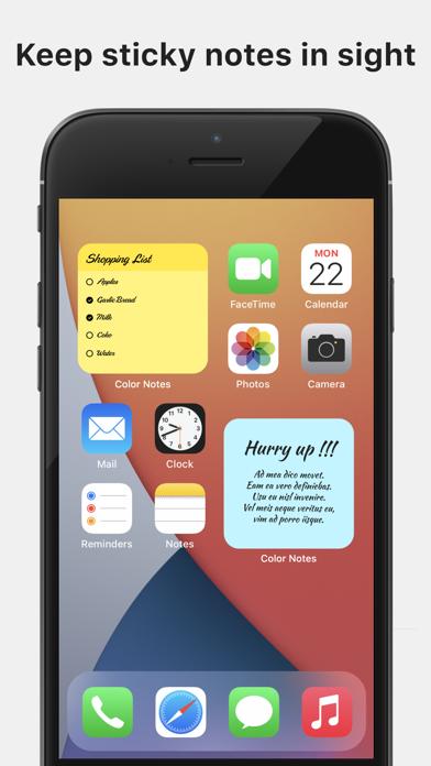 Color Note - Notepad screenshot 2