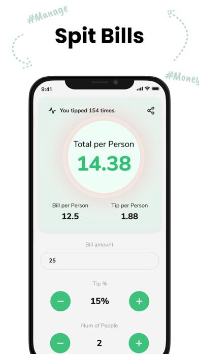 Tip - Calculator & Bill split screenshot 3