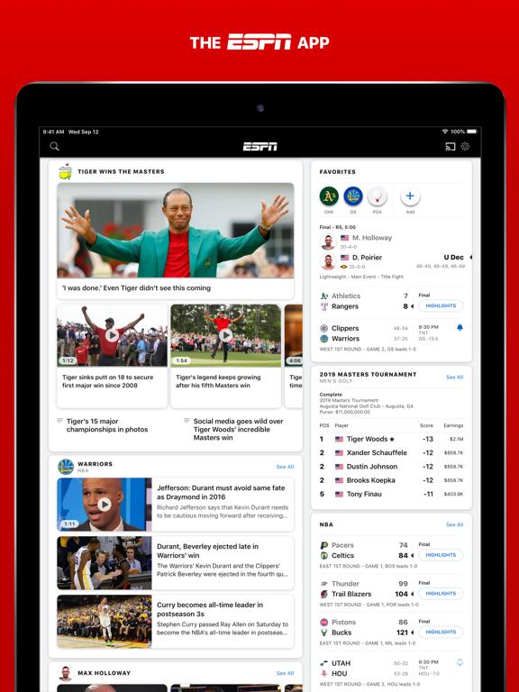 Screenshot #4 pour ESPN: Live Sports & Scores