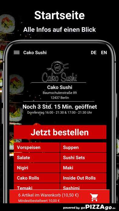 Cako Sushi Berlin screenshot 2