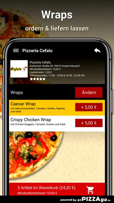 Pizzeria Cefalu Graben-Neudorf screenshot 6