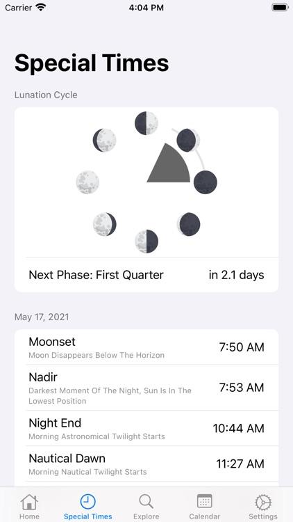 AstroMoon: Moon Calendar screenshot-3