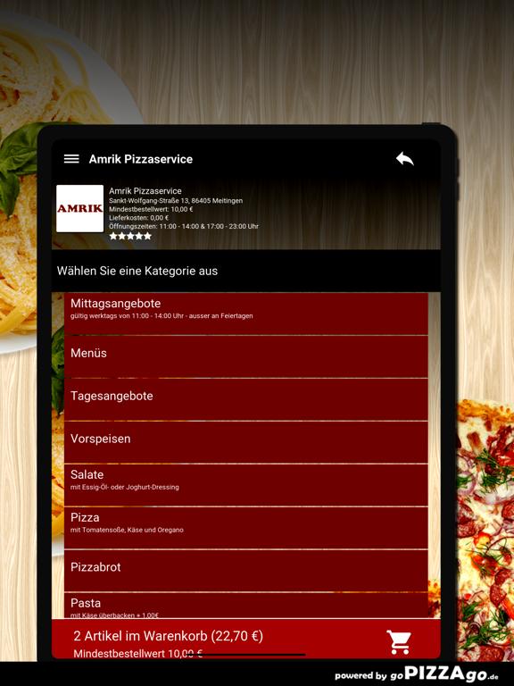 Amrik Pizzaservice Meitingen screenshot 8