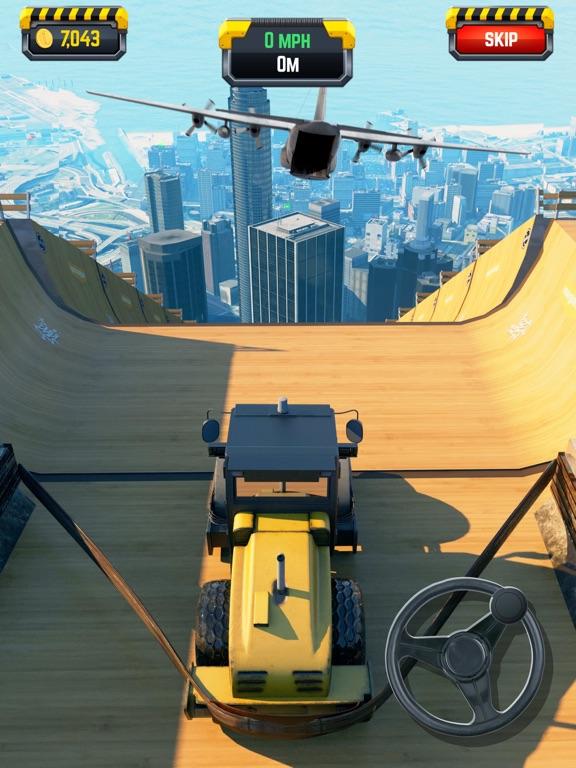 iPad Image of Construction Ramp Jumping