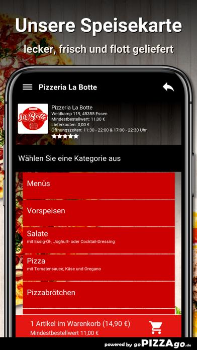 Pizzeria La Botte Essen screenshot 4