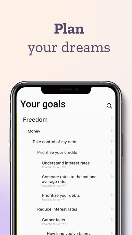 Ubjective – daily goal tracker