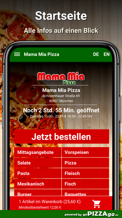 Mama Mia Pizza München screenshot 2