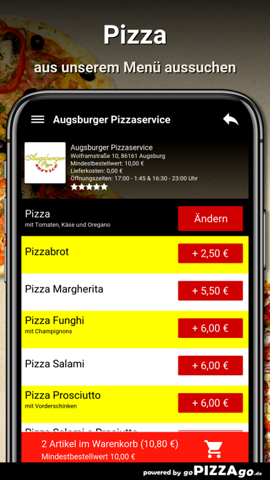 Augsburger Pizzaservice Augsb screenshot 5