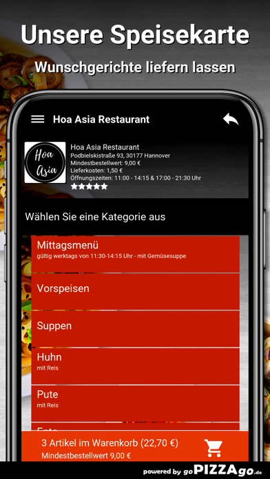 Hoa Asia Restaurant Hannover screenshot 4