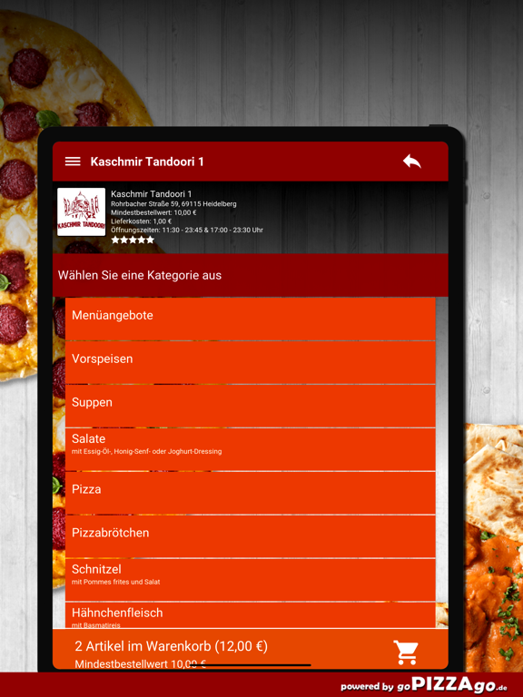 Kaschmir Tandoori 1 Heidelberg screenshot 8