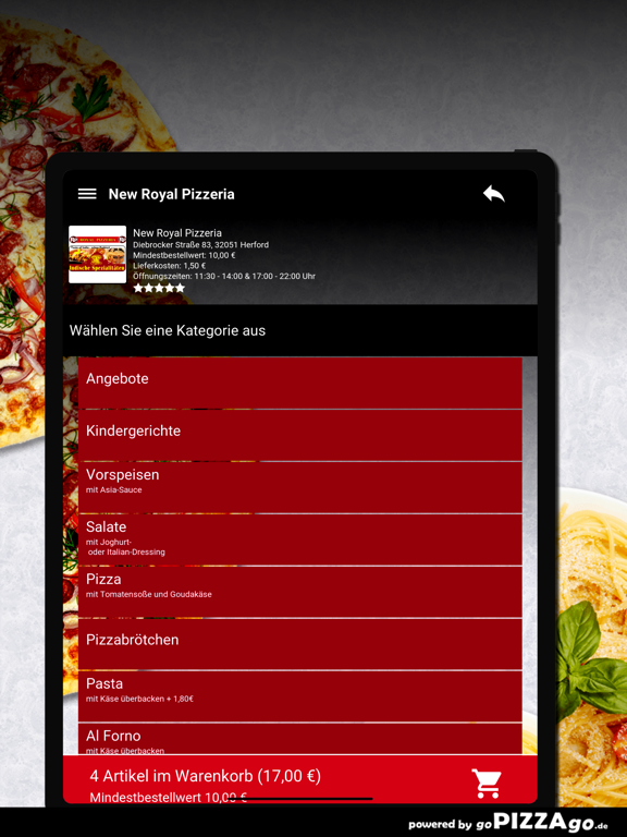 New Royal Pizzeria Herford screenshot 8