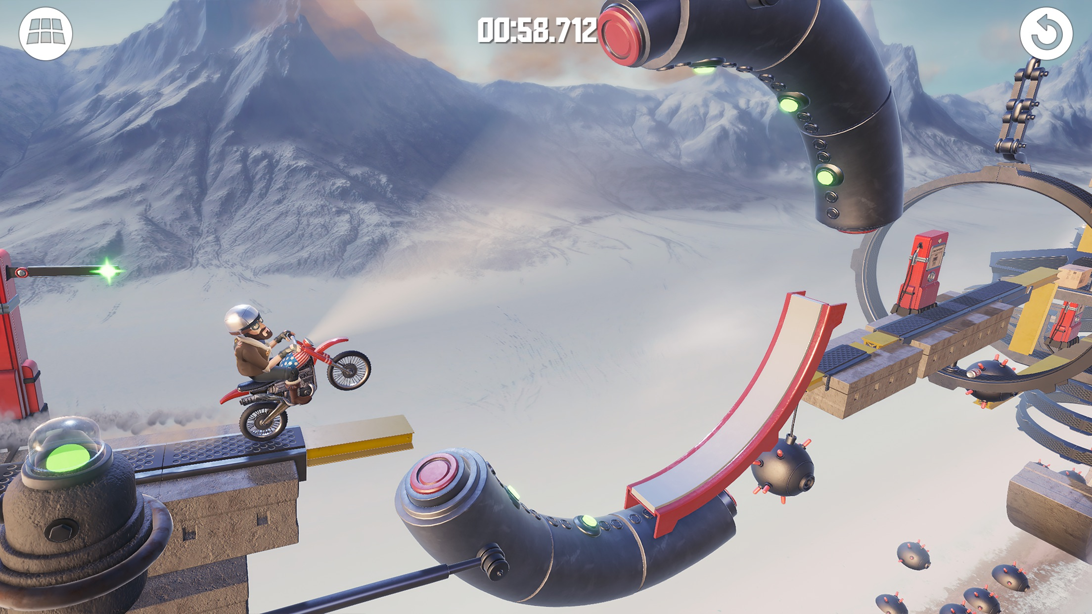 Screenshot do app Bike Baron 2