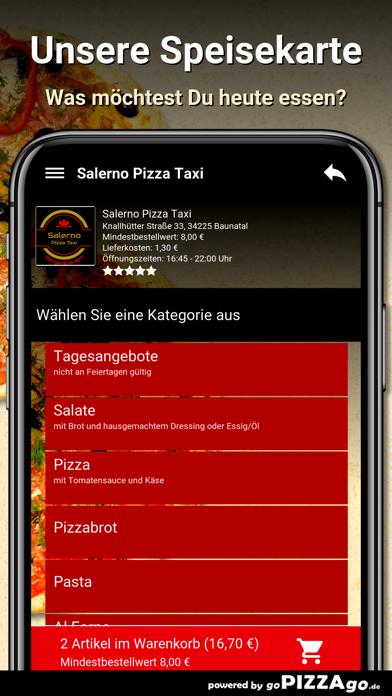 Salerno Pizza Taxi Baunatal screenshot 1