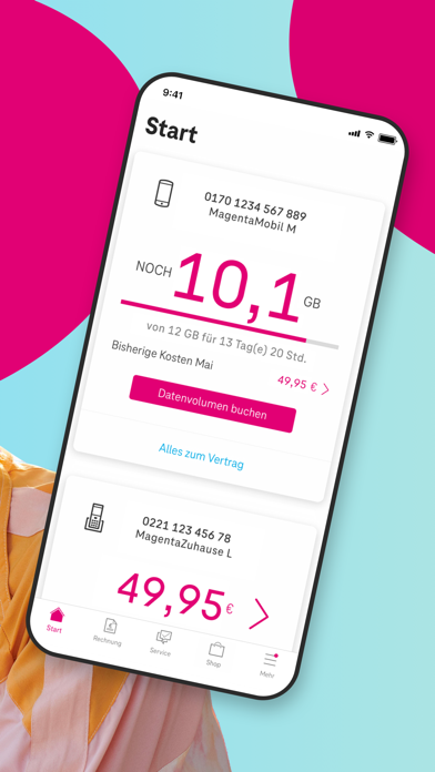 MeinMagenta: Handy & FestnetzScreenshot von 2