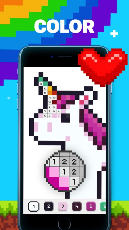UNICORN: Color by Number Games screenshot-0