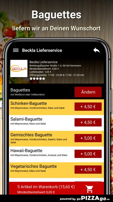 Beckla Lieferservice Kemmern screenshot 6