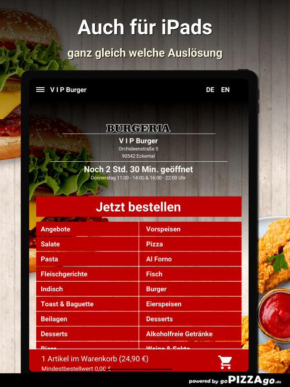 V I P Burger Eckental screenshot 8