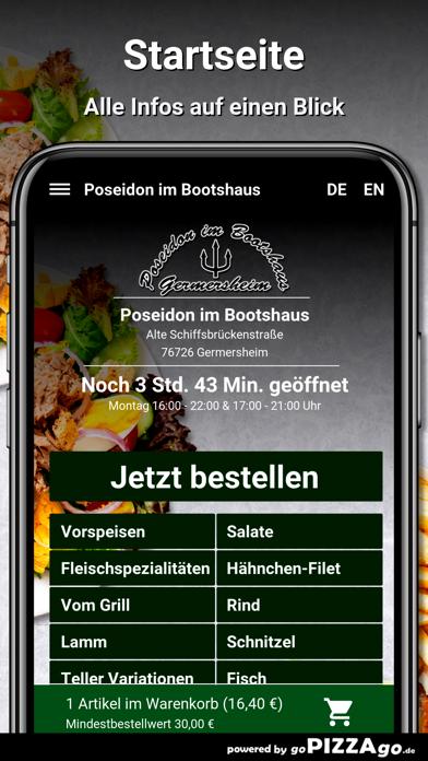 Poseidon im Bootshaus Germersh screenshot 2