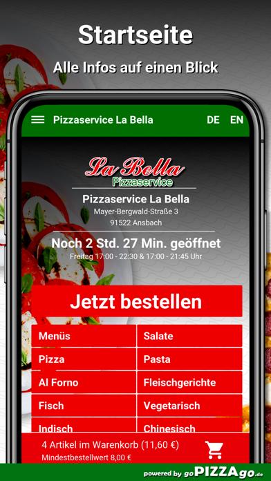 Pizzaservice La Bella Ansbach screenshot 2