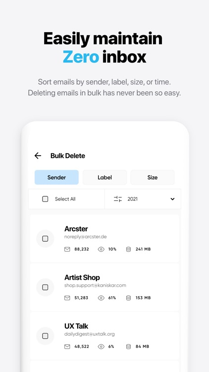 Instaclean - bulk mail cleaner