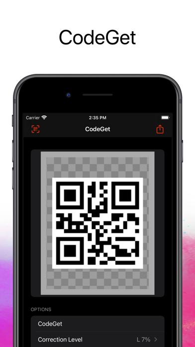 CodeGet Qr Code Generator screenshot 1