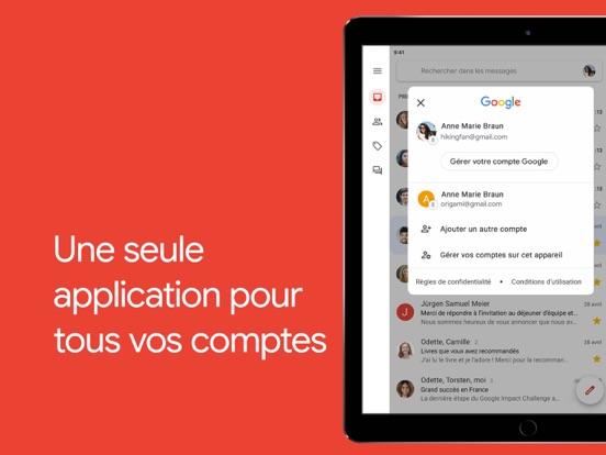 Gmail – la messagerie Google iPad captures décran