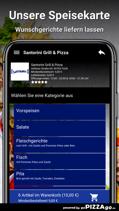 Santorini Grill & Pizza Fürth screenshot 4
