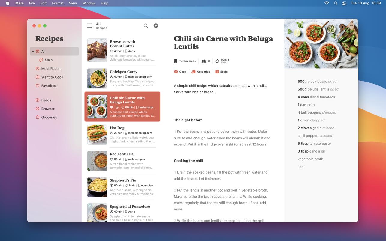 Mela 1.0.3 Mac 破解版 食谱管理软件
