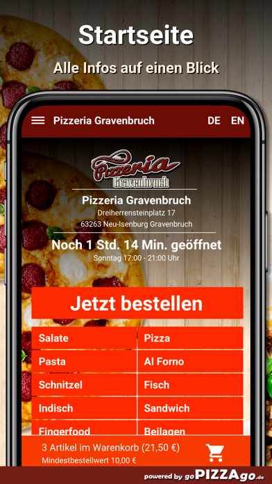 Pizzeria Gravenbruch Neu-Isenb screenshot 2