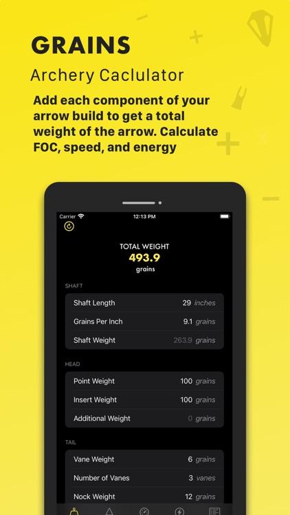 Grains: Archery Calculator