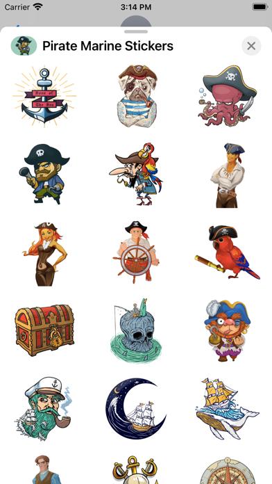 Pirate Marine Stickers screenshot 3