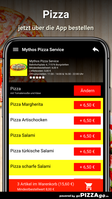 Mythos Pizza Burgstetten screenshot 5