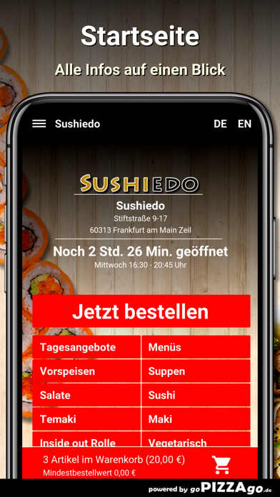Sushiedo Frankfurt screenshot 2