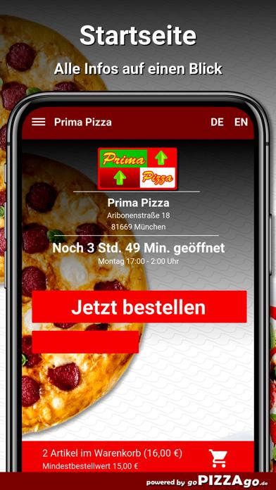 Prima Pizza München screenshot 2