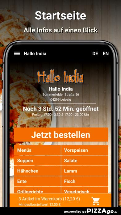 Hallo India Leipzig screenshot 2