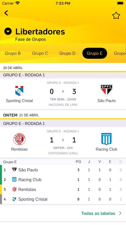 Placar UOL - Futebol screenshot-3