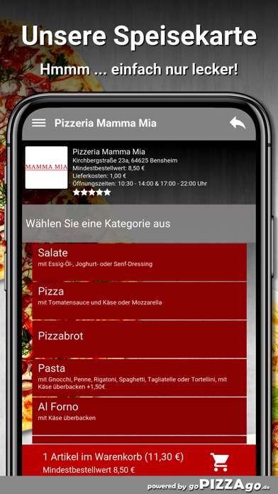 Pizzeria Mamma Mia Bensheim screenshot 4