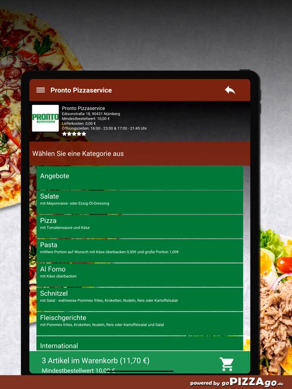 Pronto Pizzaservice Nürnberg screenshot 8