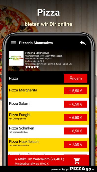 Pizzeria Mannsalwa Mörlenbach screenshot 5