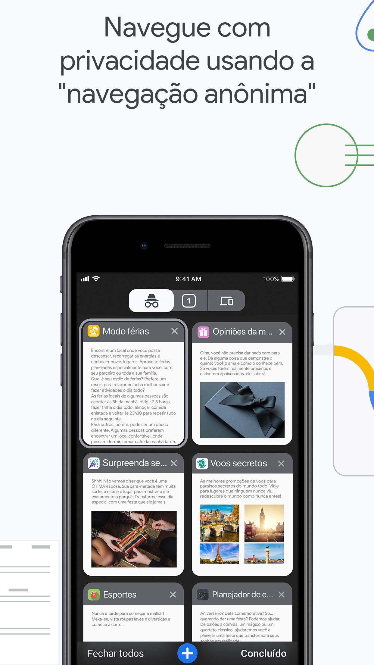 Screenshot do app Google Chrome