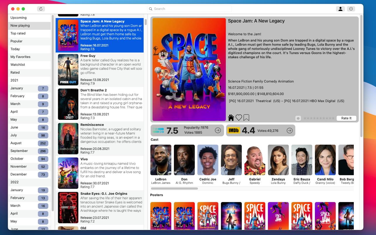 Coming soon 3.1 Mac 破解版 电影资讯软件