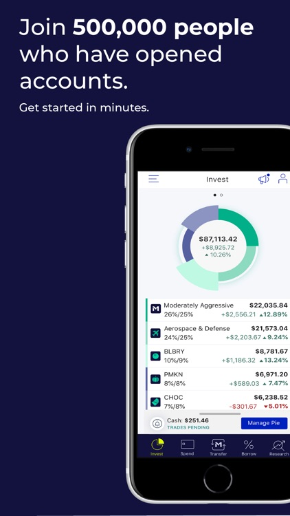 M1 Finance: Yours to build. screenshot-0