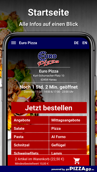 Euro Pizza Hanau screenshot 2