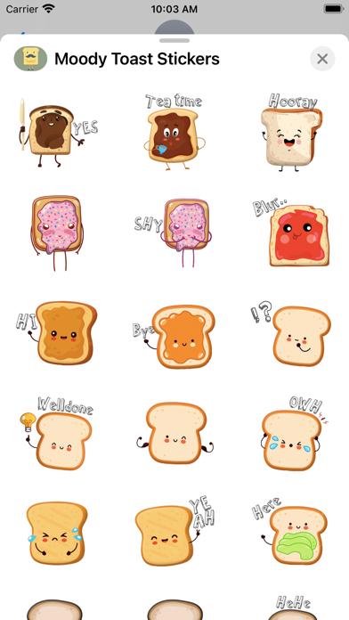 Moody Toast Stickers screenshot 2