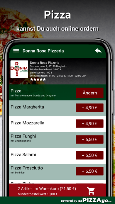 Donna Rosa Pizzeria Bergheim screenshot 5