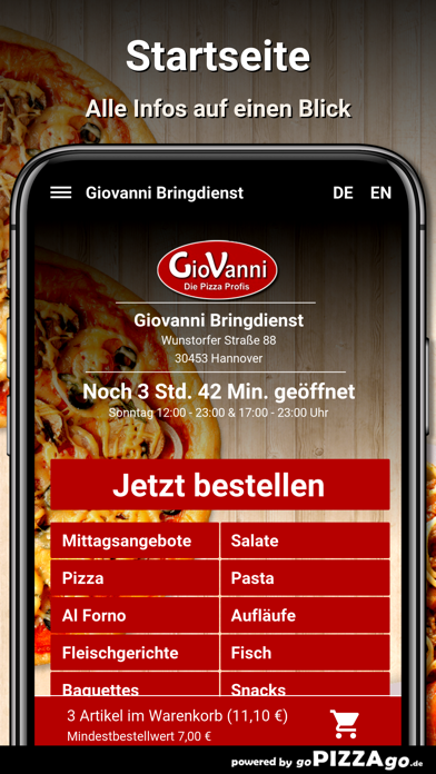 Giovanni Bringdienst Hannover screenshot 2