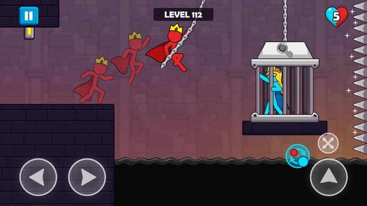 Red and Blue Stickman screenshot-4