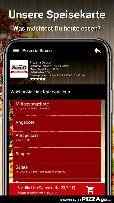 Pizzeria Bacco Idstein screenshot 4