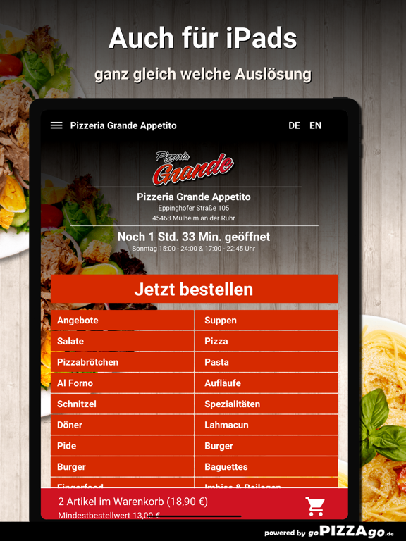 Pizzeria Grande Appetito Mülhe screenshot 7